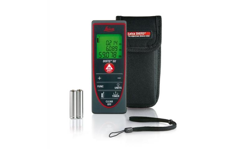 Leica DISTO™ D2 POCKET SIZE WITH 100 M RANGE AND BLUETOOTH® SMART