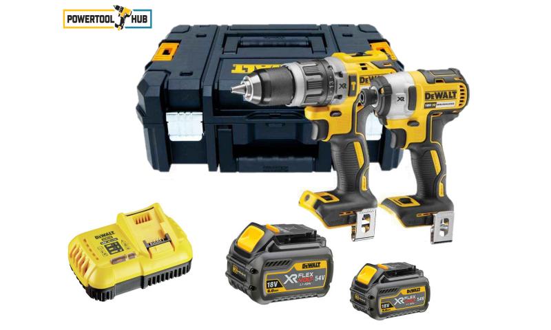 Dewalt Brushless Twin Pack (2 x 54V 6 Amp Flexvolt Batteries) (DCK266T2)