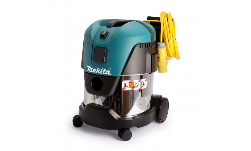 Makita VC2012L 110V 20L Wet and Dry L Class Dust Extractor/Vacuum Cleaner