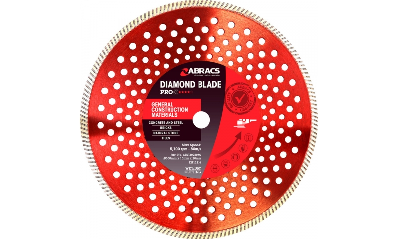 Abracs 300mm x 10mm x 20mm Diamond blade (ABDT30020MC)