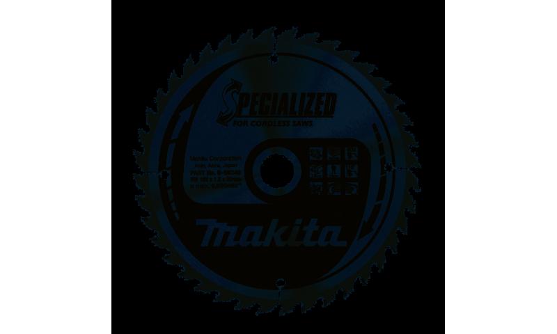 Makita Specialised Cordless Saws TCT Saw Blade 165mm x 20mm 40T (B-09248)