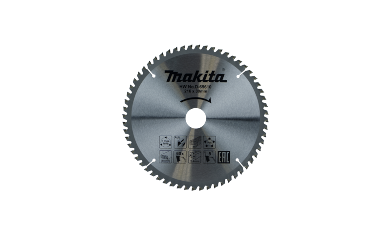 Makita 216mm x 60t x 30mm Multi Purpose Tct Saw Blade (D-65610)