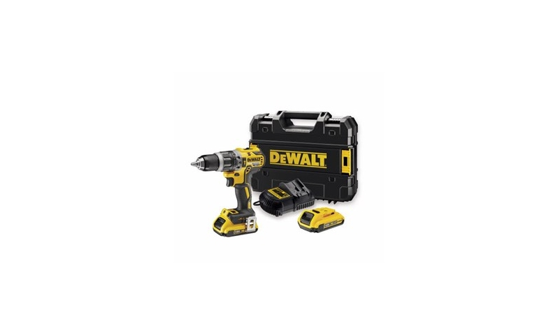 DEWALT DCD796D2-GB Combi Drill 18V XR Brushless Compact Lithium-Ion (2 x 2.0Ah Batteries)