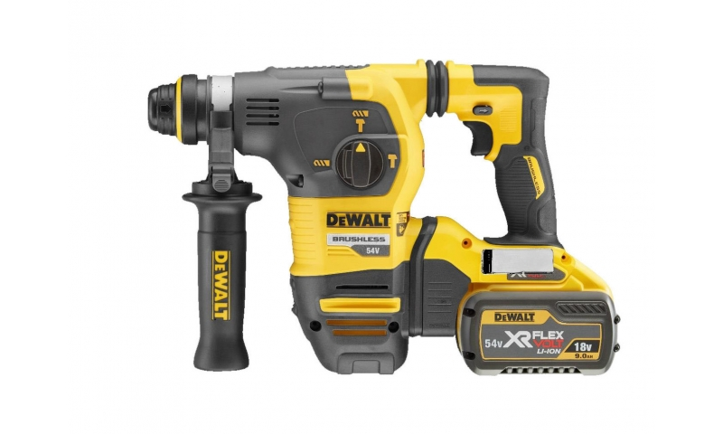 DeWalt DCH333X2 54V XR FLEXVOLT Brushless 3-Mode Hammer Drill with 2 x 9.0Ah Batteries