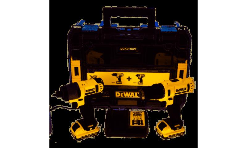 DeWalt DCK211D2T 10.8V XR 2 Piece Drill and Impact Driver Kit