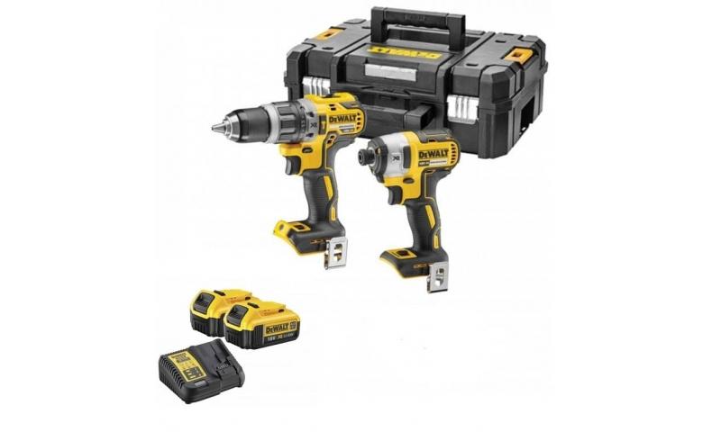 DeWalt DCK266M2 18V XR 4 AMP Brushless Combi Drill and Impact Driver Twin Kit