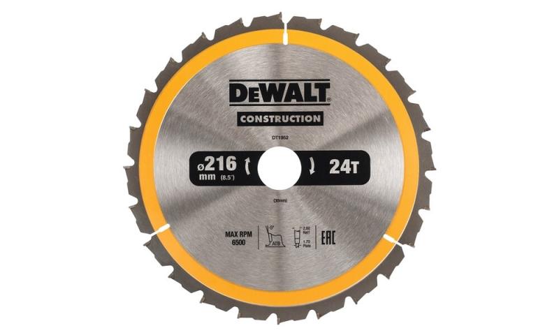 Dewalt Circular Saw Blade 216mm x 30mm x 24T (DT1952)