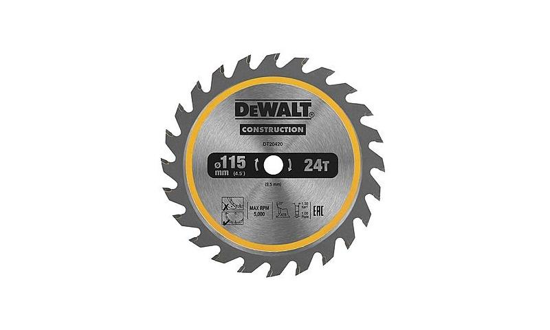DeWalt DT20420 115 x 9.5mm TCT Saw Blade 24T (Suits DCS571)