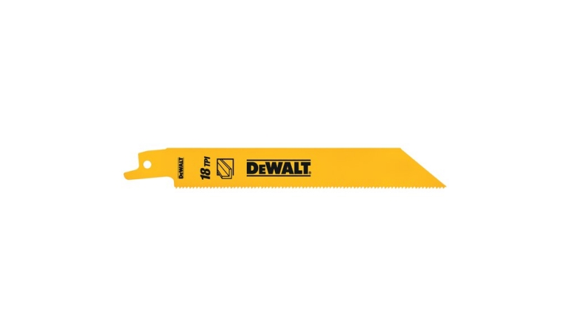 DEWALT DT2384-QZ 5 PACK 152MM BI-METAL RECIPROCATING SAW BLADES - FOR FAST CUTS IN METAL