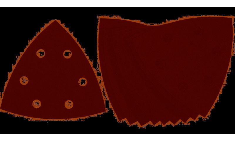 DeWalt DT3094 93mm 180 Grit Detail Sanding Sheet Pack of 10