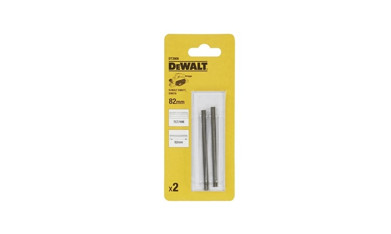 Dewalt TCT Planer Blades 82mm (Pack Of 2) (DT3906)