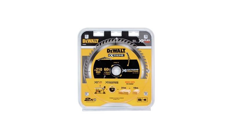 Dewalt DT99565-QZ XR Flexvolt Extreme Blade 210MM X 30MM X 24T Table Saw Blade