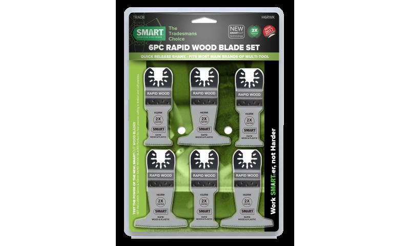 SMART RAPID WOOD BLADE SET X6 PCS (H6RWK)