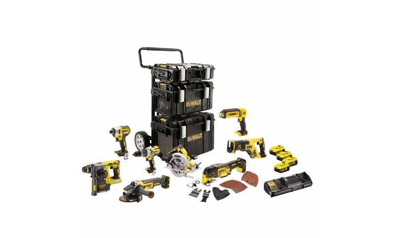 Dewalt 8 Piece Brushless kit 4 x 5.0AH Batteries (DCK853P4-GB)