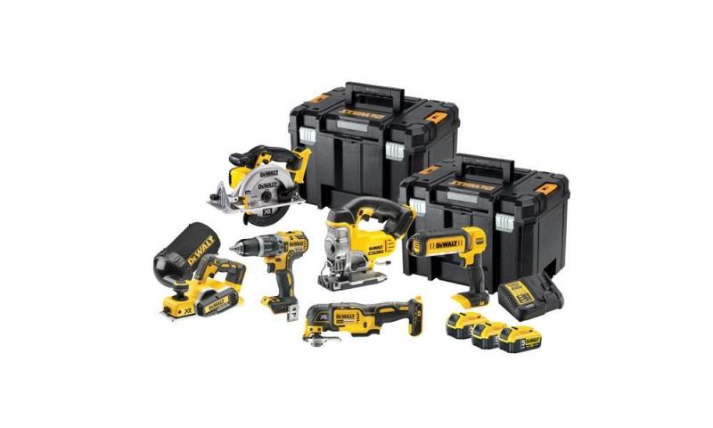 DEWALT DCK665P3T 18 Volt 6 Piece Cordless Kit, 3 x 5.0Ah Batteries