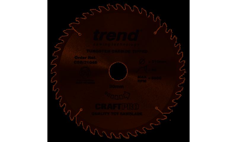 Trend CSB/21048 CraftPro Saw Blade 210mm x 30mm x 48T