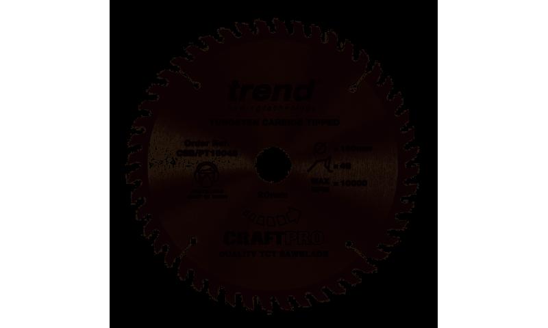 Trend CSB/PT16048 CraftPro Saw Blade 160mm x 20mm x 48T (Festool TS55)