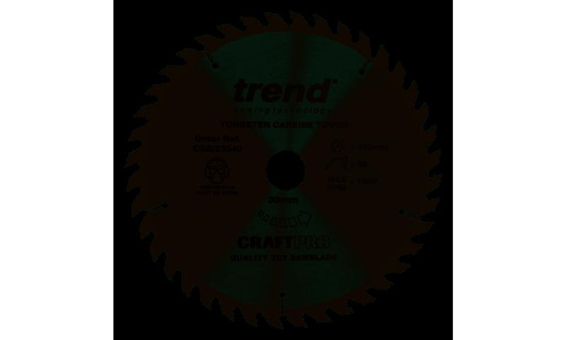 Trend CSB/23540 CraftPro Saw Blade 235mm x 30mm x 40T